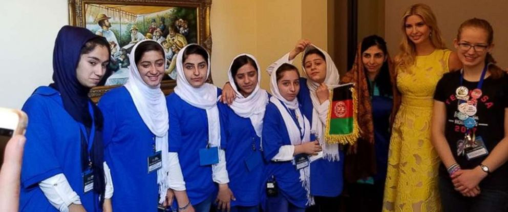 Afghan Girls Robotics Team Wins Silver Meets Ivanka Trump Abc News