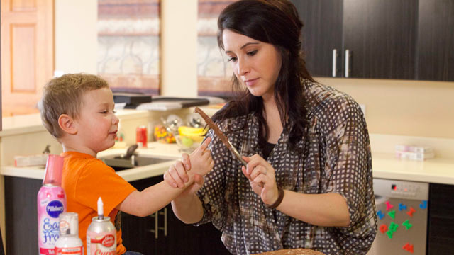 PHOTO: Bristol Palin cooks with her son Tripp in the new Lifetime docu-series, Bristol Palin: Life?s a Tripp.