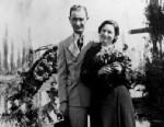 PHOTO: Newlyweds Lyndon B. Johnson and Lady Bird Johnson posing in a boat on the Floating Gardens, Xochimilco, Mexico Nov. 1934.