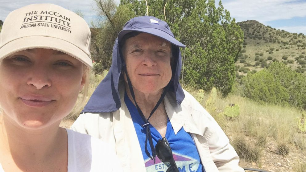 Sen. John McCain, R-Ariz., tweeted this photo on August 22, 2017, with daughter Meghan McCain.