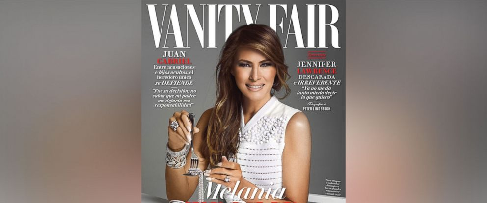 PHOTO: Melania Trump graces the cover of Vanity Fair Mexicos February 2017 issue, in a photo shot by Douglas Friedman.