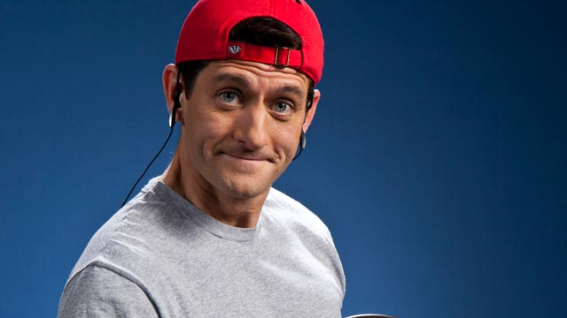 PHOTO: Paul Ryan, photographed for TIME, demonstrates his workout technique at a gym in Janesville, Wis. in December of 2011.