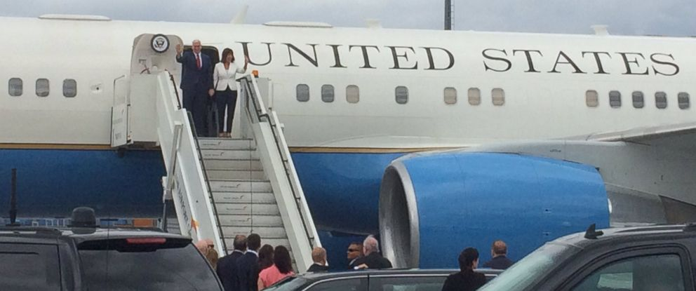 PHOTO: The U.S. embassy in Tallinn, Estonia, tweeted this photo of Vice President Mike Pence and second lady Karen Pence arriving on July 30, 2017.