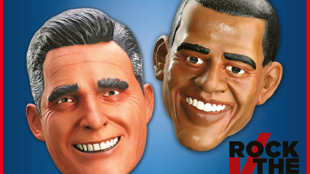 PHOTO: Spirit Halloween Political Masks Sales Will Determine Next President.