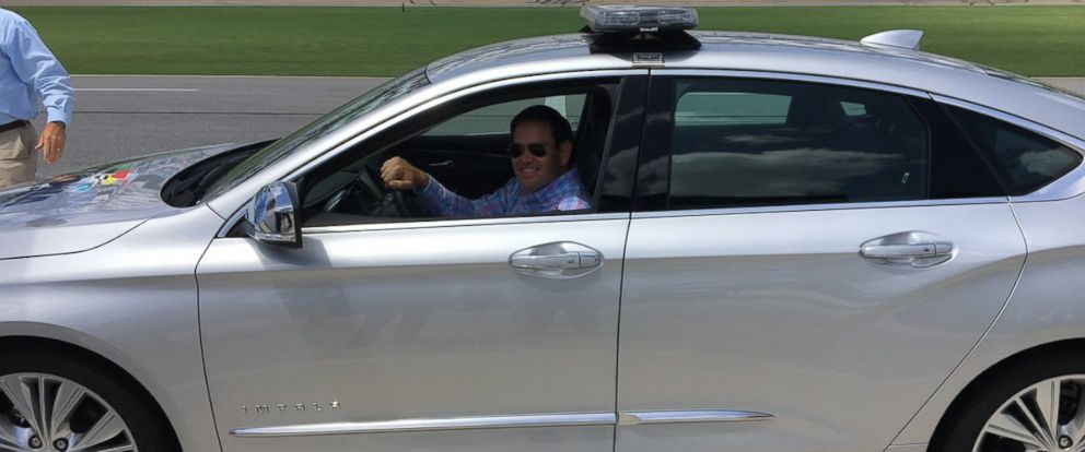 PHOTO: Sen. Marco Rubio, R-Florida, sits in a pace car at Daytona International Speedway in Daytona Beach, Florida, on August 31, 2017.