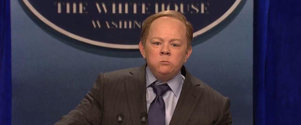 "PHOTO: Melissa McCarthy as White House press secretary Sean Spicer on ""Saturday Night Live"" on February 4, 2017."