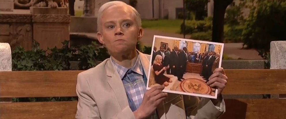 """PHOTO: """"Saturday Night Live"""" cast member Kate McKinnon plays Attorney General Jeff Sessions during the shows cold open on March 4, 2017."""