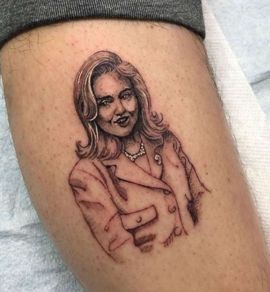 PHOTO: Saturday Night Live cast member Pete Davidson posted this photo on Instagram on December 15, 2017, of his Hillary Clinton tattoo.