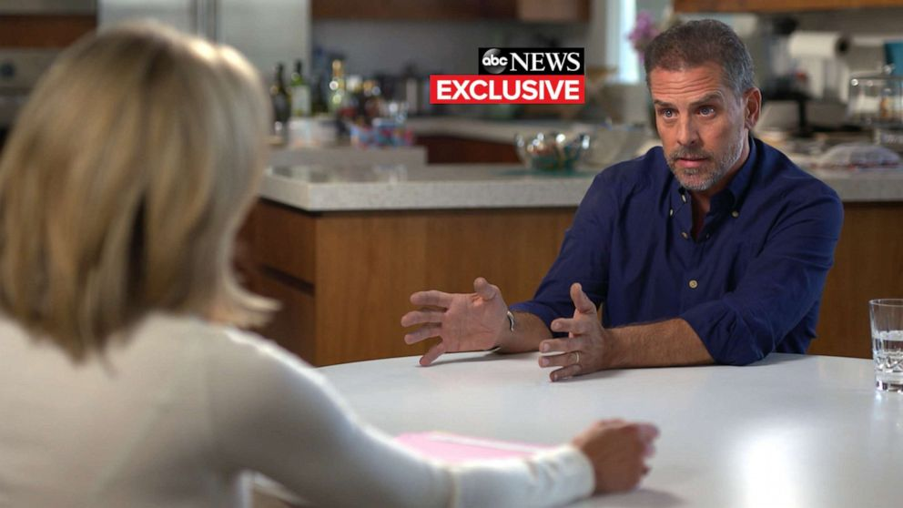 PHOTO: Hunter Biden speaks with ABCs Amy Robach, October 2019.