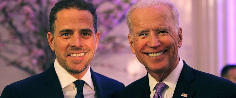 PHOTO: In this file photo, World Food Program USA Board Chairman Hunter Biden (L) and Vice President Joe Biden attend the World Food Program USAs Annual McGovern-Dole Leadership Award Ceremony on April 12, 2016 in Washington.