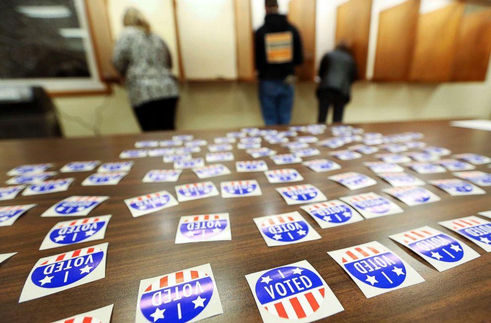 PHOTO: People vote at Jamestown Town Hall in Kieler, Wis., Nov. 6, 2018.