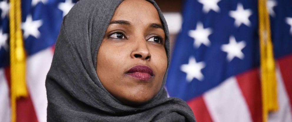 PHOTO: Ilhan Omar, D-MN, attends a press conference in the House Visitors Center at the Capitol in Washington, D.C., Nov. 30, 2018.