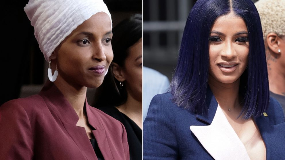 cardi b gives rep  ilhan omar a shout-out after trump crowd chants  u0026 39 send her back u0026 39