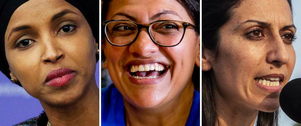 PHOTO: Ilhan Omar, Rashida Tlaib and Fayrouz Saad are candidates for the U.S. House.