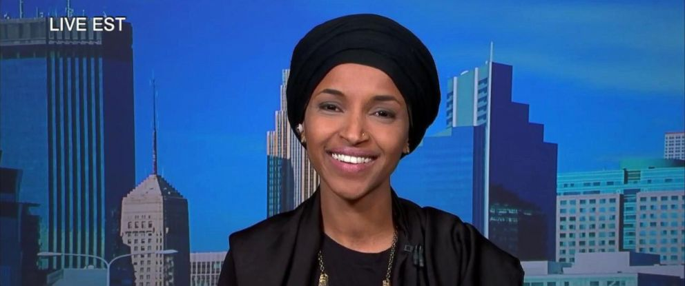 "PHOTO: Ilhan Omar discusses her recent election win on ""The View,"" Nov. 7, 2018."