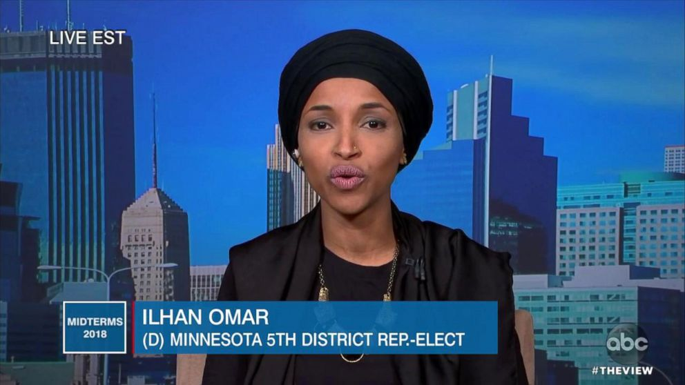 """Ilhan Omar discusses her recent election win on """"The View,"""" Nov. 7, 2018."""