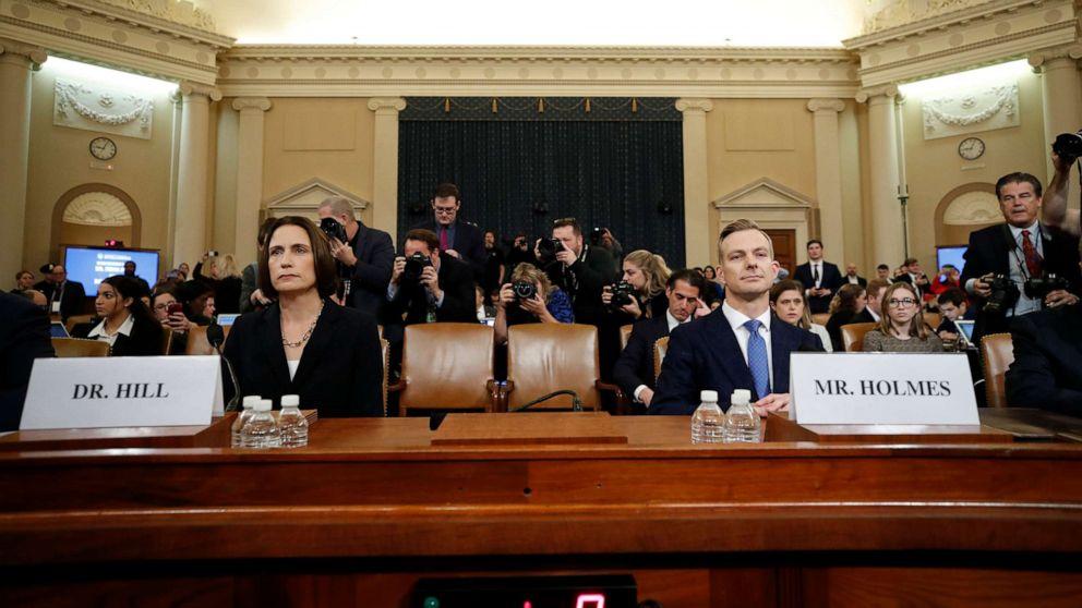 Trump impeachment-Anhörungen live-updates: Fiona Hill und David Holmes bezeugen