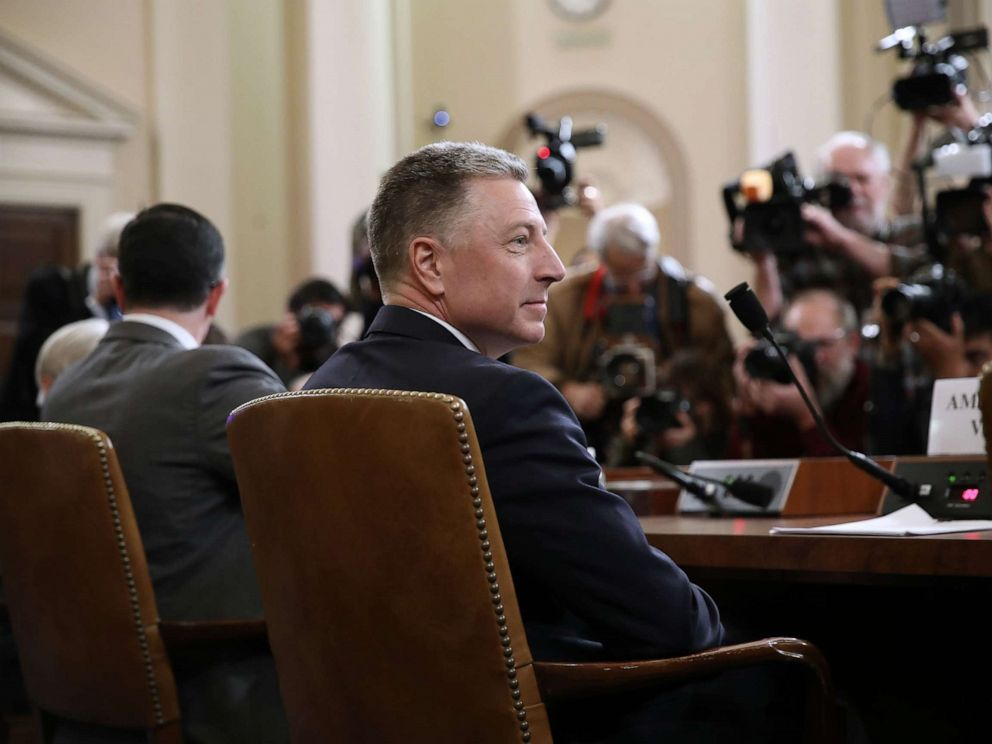 PHOTO: Former special envoy to the State Department of Ukraine Kurt Volker is waiting to testify before the House Intelligence Committee on Capitol Hill, November 19, 2019.
