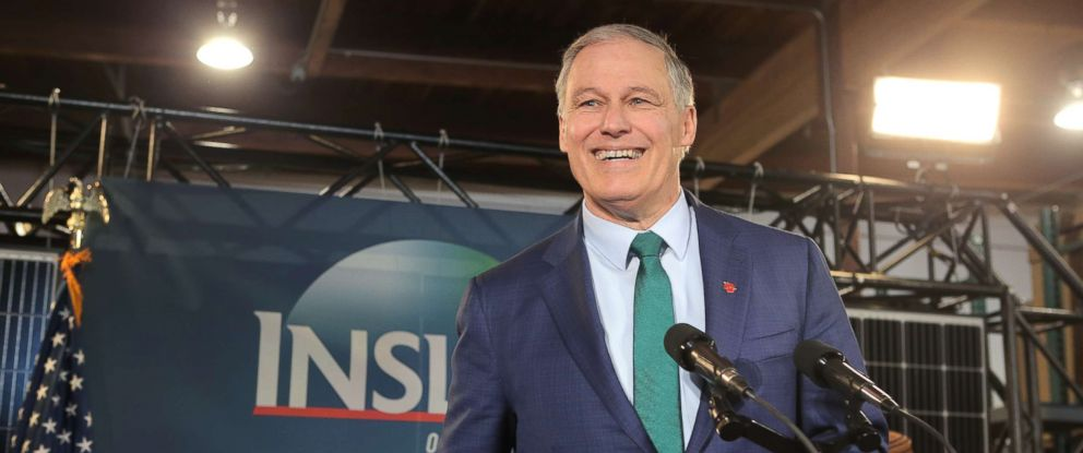 PHOTO: Washington Gov. Jay Inslee announces his run for the 2020 Presidency on March 1, 2019 in Seattle.