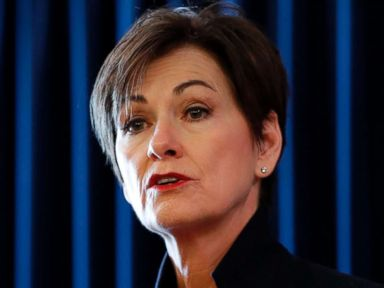 PHOTO: Iowa Gov. Kim Reynolds speaks during a news conference in Des Moines, Iowa, Jan. 8, 2018.