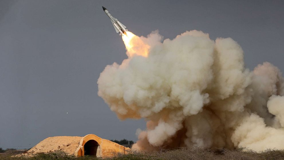 A long-range S-200 missile is fired in a military drill in the port city of Bushehr, on the northern coast of Persian Gulf, Iran, in this Dec. 29, 2016 file photo released by the semi-official Iranian Students News Agency (ISNA).