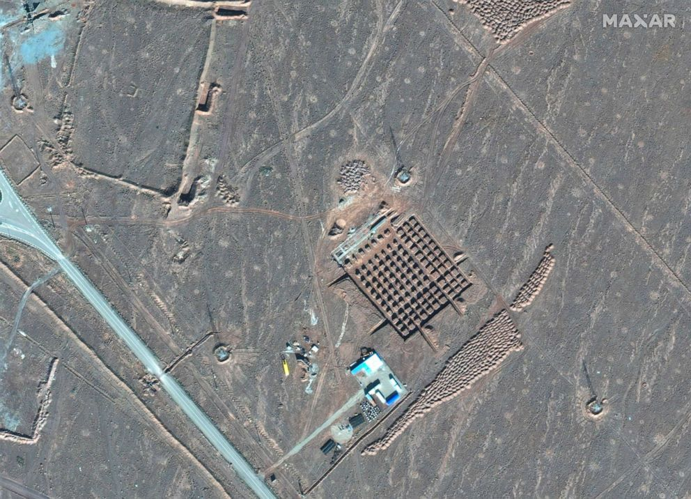 PHOTO: This Dec. 11, 2020, satellite photo by Maxar Technologies shows construction at Iran's Fordo nuclear facility.