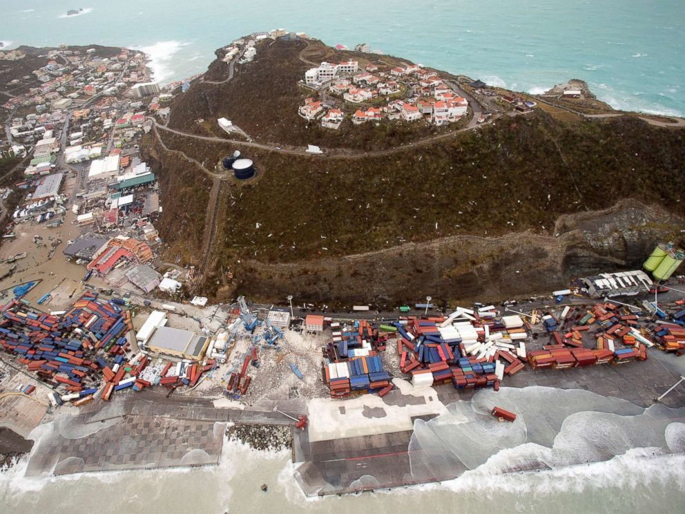 PHOTO: A view of the aftermath of Hurricane Irma on Sint Maarten Dutch part of Saint Martin island in the Caribbean, Sept. 6, 2017.