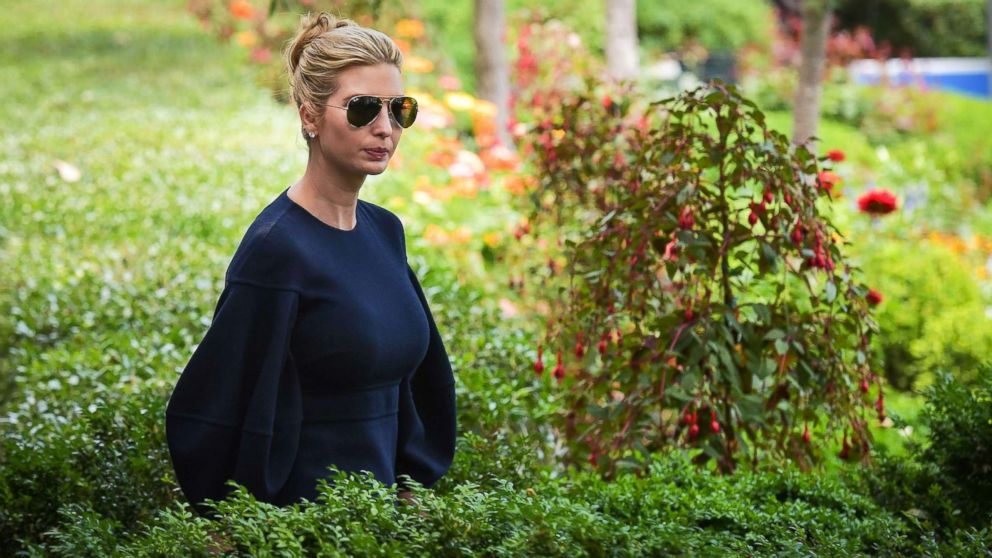 Ivanka Trump arrives for an event in the Rose Garden of the White House on June 7, 2018 in Washington, D.C.