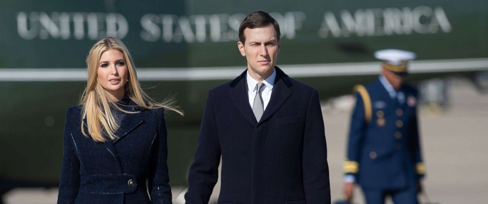 PHOTO: White House senior advisors Ivanka Trump and Jared Kushner, walk to Air Force One at Joint Base Andrews in Maryland, Oct. 30, 2018.
