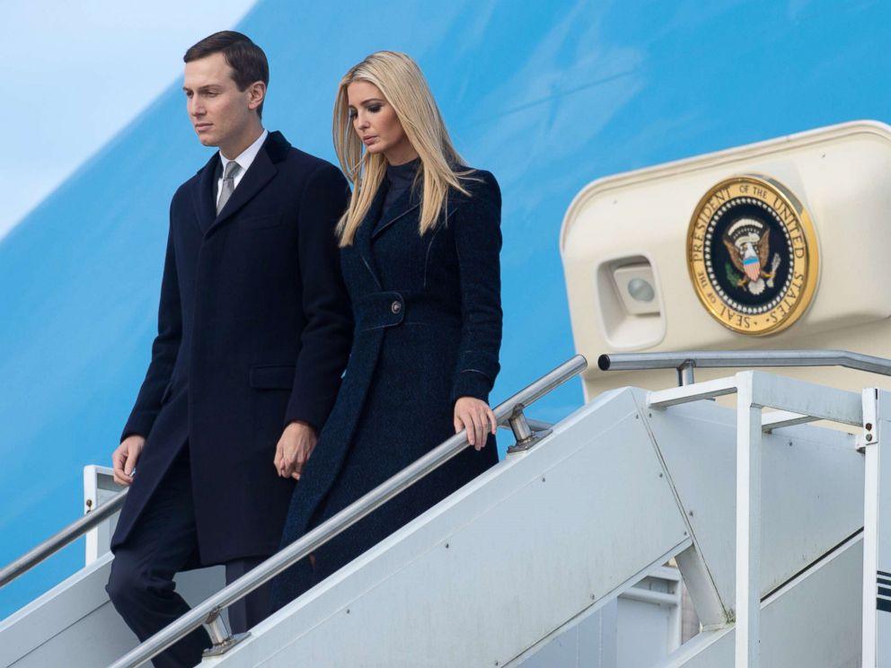 PHOTO: Ivanka Trump and Jared Kushner disembark from from Air Force One upon arrival at Pittsburgh International Airport in Pittsburgh, Oct. 30, 2018.