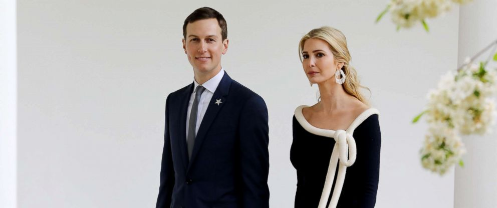 PHOTO: U.S. President special advisor Jared Kushner and his wife Ivanka Trump arrive at the White House, April 24, 2018.
