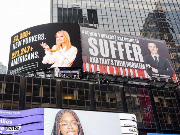 Lawyer for Ivanka Trump, Jared Kushner threatens suit over 'defamatory' billboards