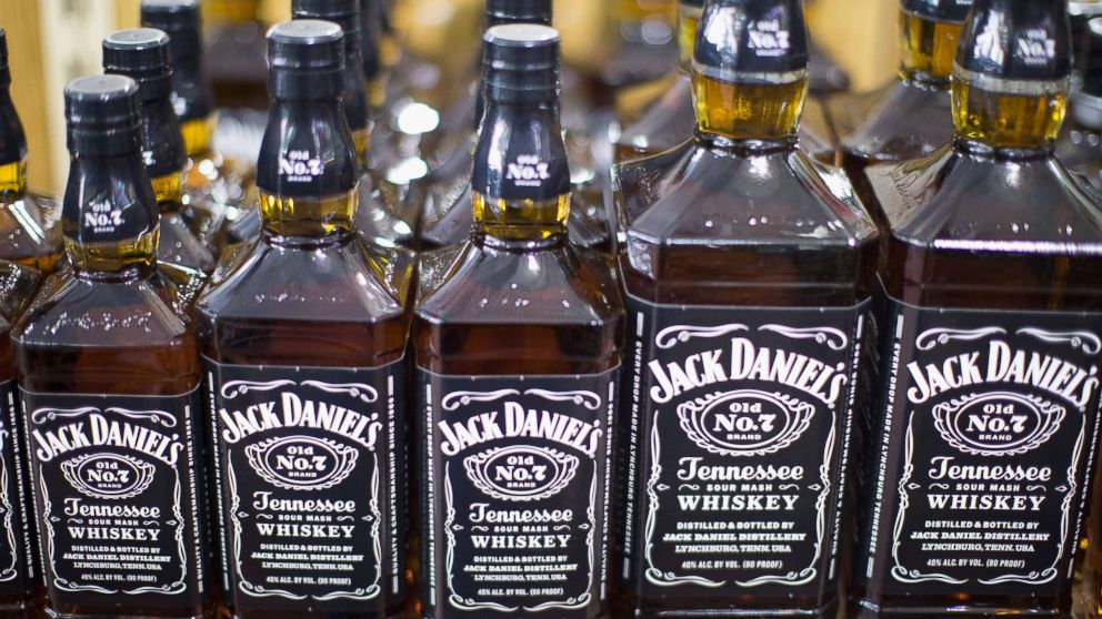 Jack Daniels Tennessee Whiskey is offered for sale at a liquor store on Feb. 3, 2015 in Chicago.