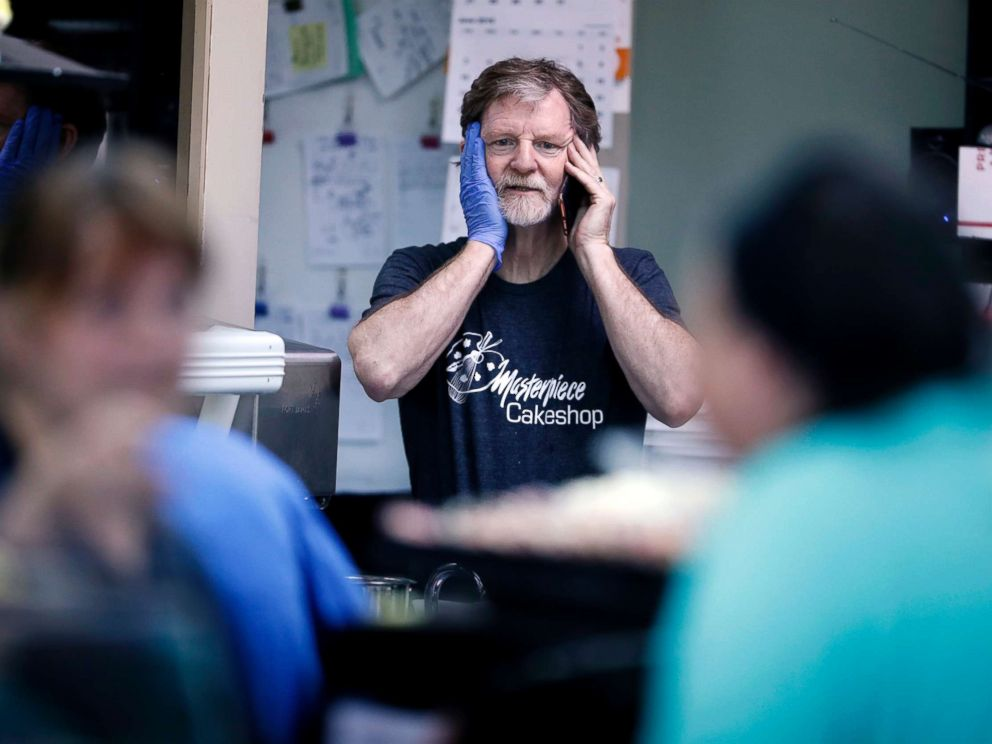 PHOTO: Baker Jack Phillips, owner of Masterpiece Cakeshop, June 4, 2018, in Lakewood, Colo.
