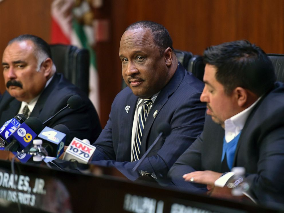 PHOTO: Inglewood Mayor James Butts Jr. listens during special meeting Thursday June 15, 2017 in Inglewood, Calif.