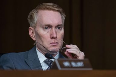 PHOTO: Sen. James Lankford attends a Senate Select Intelligence Committee hearing in Hart Building featuring testimony by intelligence officials, June 7, 2017.
