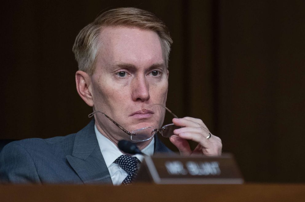 Sen. James Lankford attends a Senate Select Intelligence Committee hearing in Hart Building featuring testimony by intelligence officials, June 7, 2017.