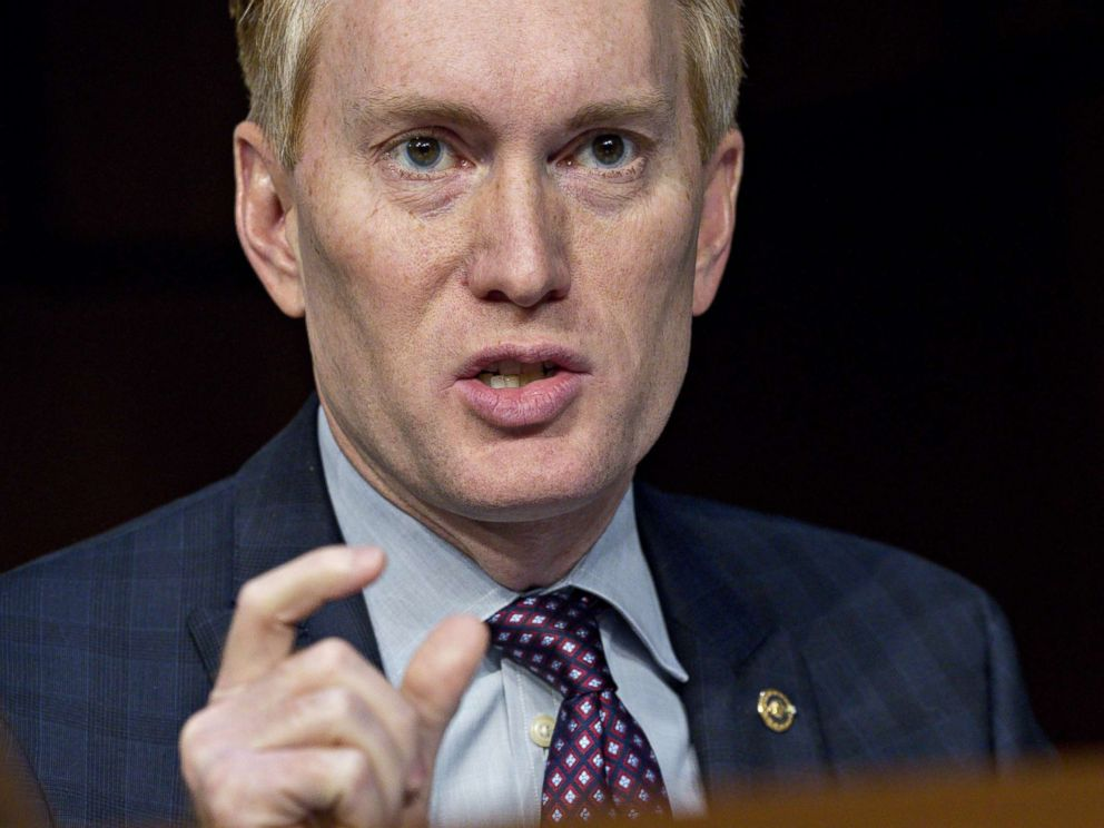 PHOTO: Senator James Lankford, a Republican from Oklahoma, questions witnesses during a Senate Intelligence Committee hearing in Washington, Nov. 1, 2017.