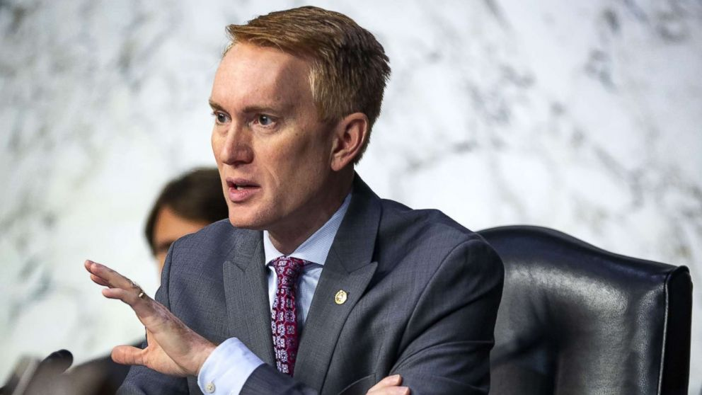 Sen. James Lankford questions retired Vice Adm. Joseph Maguire during a Senate Intelligence Committee confirmation hearing, to become the director of the National Counterterrorism Center, on Capitol Hill, on July 25, 2018 in Washington, D.C.