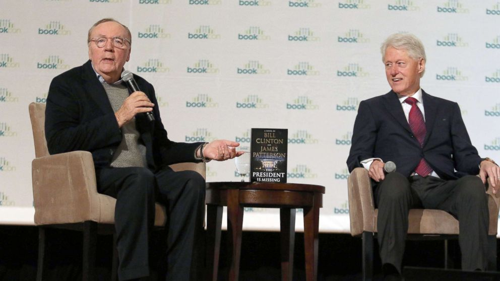 """James Patterson and Bill Clinton talk about their new Book """"The President is Missing"""" at Bookcon in New York City, June 4, 2018."""