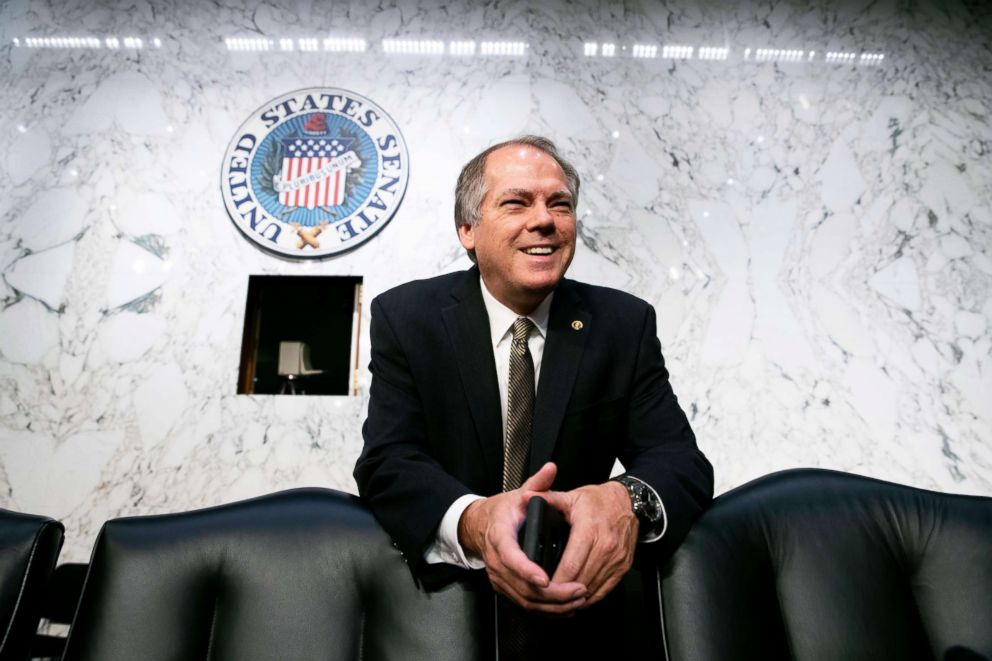 PHOTO: James Wolfe, then-director of security with the Senate Intelligence Committee, waits for the start of a hearing with the nations national security chiefs about Russias election meddling, on Capitol Hill in Washington on June 7, 2017.