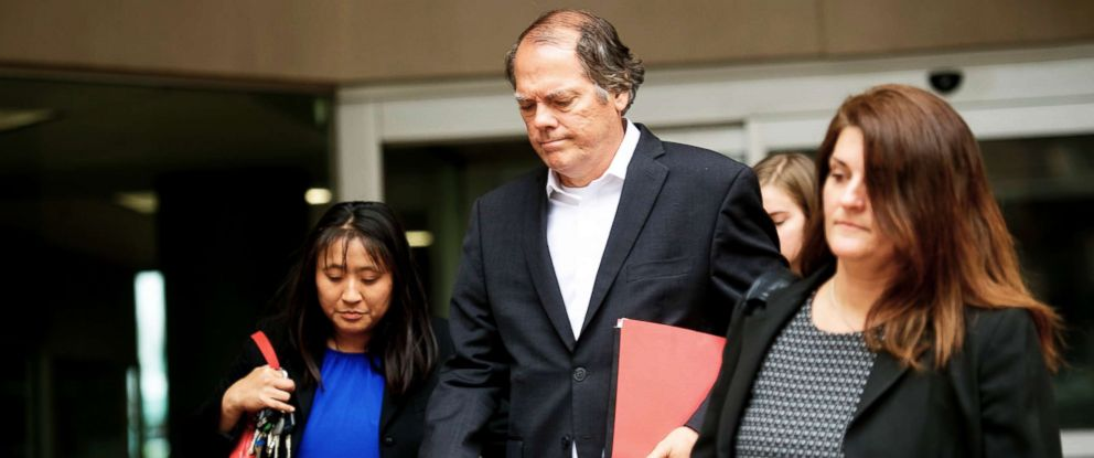 PHOTO: James A. Wolfe, a former Senate Intelligence Committee aide, exits the Edward A. Garmatz United States Courthouse on June 8, 2018, in Baltimore, Md.