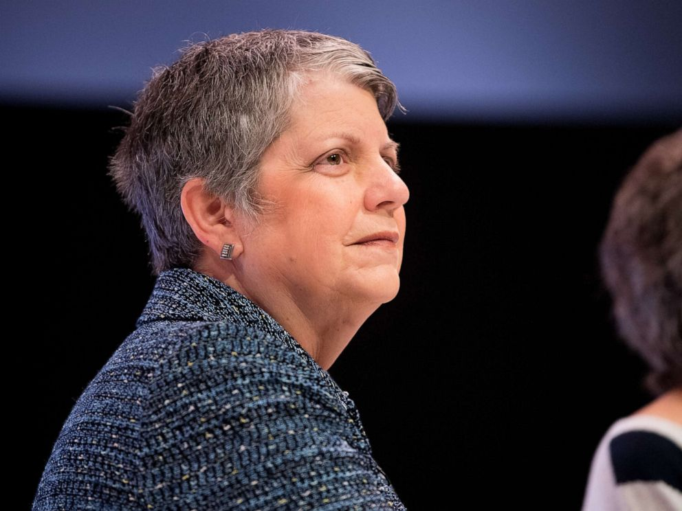 PHOTO: Janet Napolitano speaks onstage at Women Rule: The L.A. Summit at NeueHouse Hollywood, June 5, 2018, in Los Angeles.