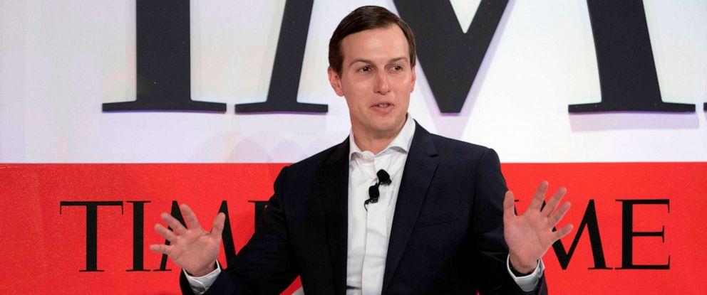 PHOTO: Senior Advisor to the President Jared Kushner speaks during the Time 100 Summit event, April 23, 2019, in New York.