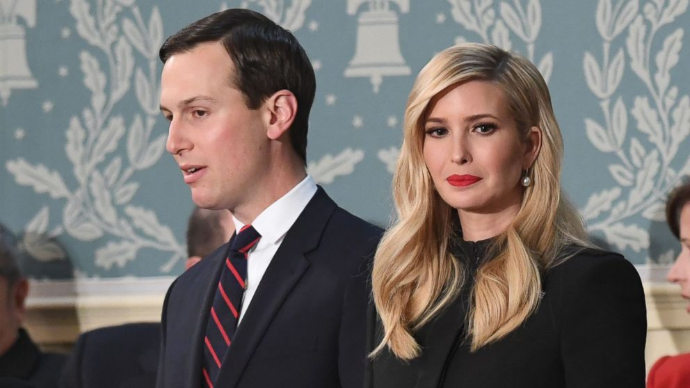 Ivanka Trump and husband Jared Kushner arrive to the State of the Union address at the U.S. Capitol in Washington, Feb. 5, 2019.