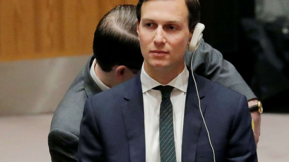 White House senior adviser Jared Kushner attends a Security Council meeting on the situation in the Middle East at the United Nations in New York, Feb. 20, 2018.