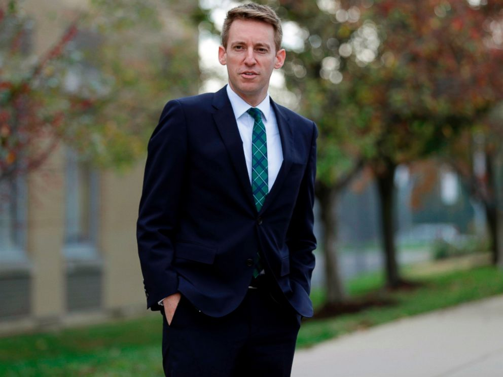 "PHOTO: In this Nov. 8, 2016 file photo, Democratic U.S. Senate candidate Jason Kander waits to greet voters outside a polling place in St. Louis. Kander's ""Outside the Wire: Ten Lessons Ive Learned in Everyday Courage"" is coming out Aug. 7."