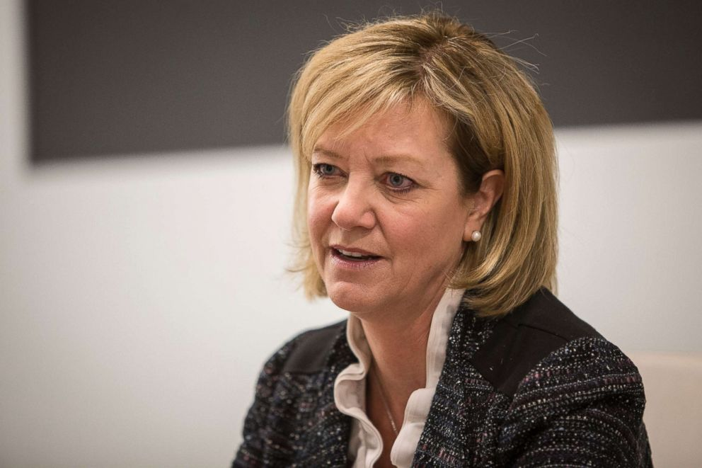 PHOTO: Jeanne Ives, Illinois Republican gubernatorial primary candidate, speaks to the Chicago Sun-Times editorial board at an event at the City Club of Chicago, Jan. 5, 2018.