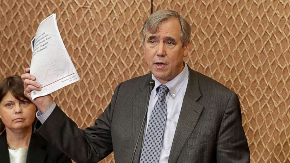 Sen. Jeff Merkley speaks during a news conference in Washington, D.C., July 17, 2018.