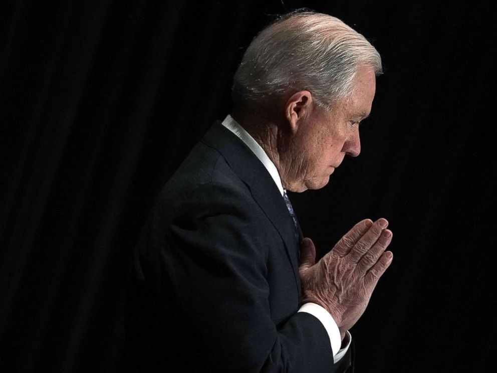PHOTO: Attorney General Jeff Sessions is introduced during the Justice Departments Executive Officer for Immigration Review (EOIR) Annual Legal Training Program June 11, 2018 in Tysons, Va.